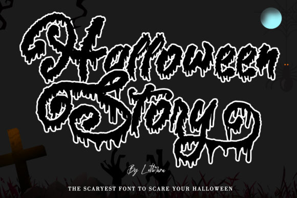 Print on Demand: Halloween Story Script & Handwritten Font By thomasaradea