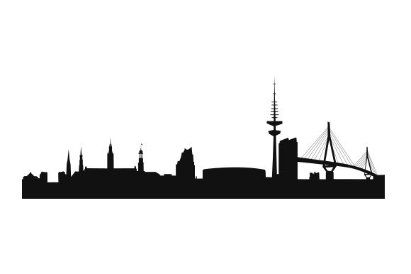Hamburg Skyline Germany Craft Cut File By Creative Fabrica Crafts