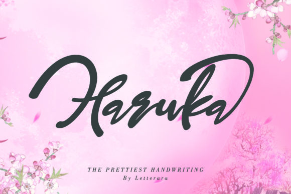Print on Demand: Haruka Script & Handwritten Font By thomasaradea