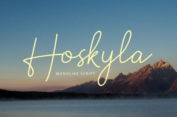 Print on Demand: Hoskyla Script & Handwritten Font By Regalëy_21