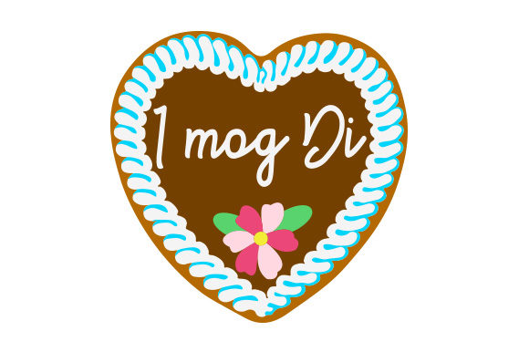 Download Free I Mog Di Gingerbread Heart Svg Cut File By Creative Fabrica for Cricut Explore, Silhouette and other cutting machines.