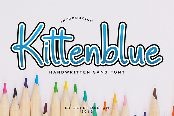Print on Demand: Kittenblue Display Font By Bluestype Studio