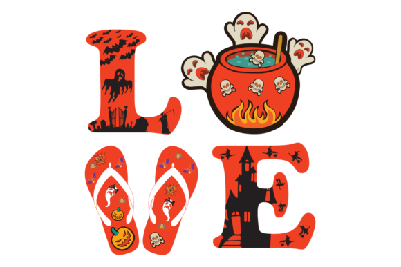 Download Free Love Halloween Graphic By Design Svg Creative Fabrica for Cricut Explore, Silhouette and other cutting machines.