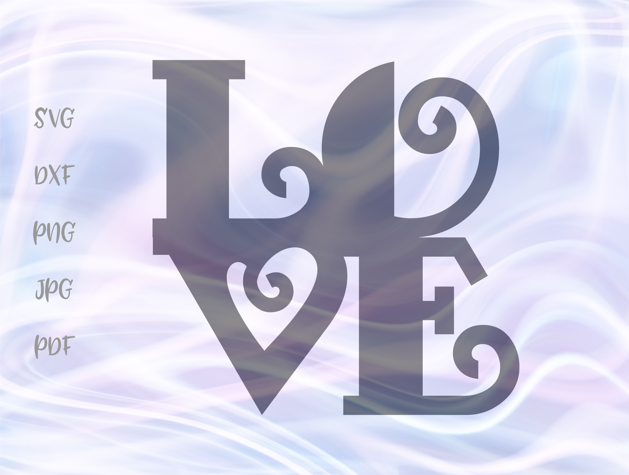 Download Free Love Word Sign Happy Valentine S Day Graphic By Digitals By for Cricut Explore, Silhouette and other cutting machines.