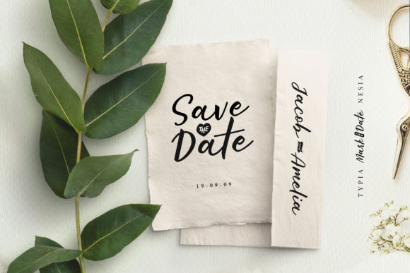 Print on Demand: Mark the Date Script & Handwritten Font By Typia Nesia - Image 2