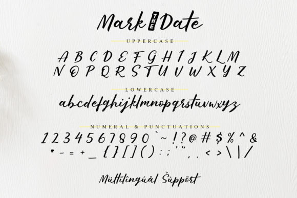 Print on Demand: Mark the Date Script & Handwritten Font By Typia Nesia - Image 7