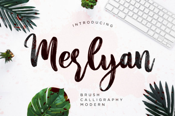 Print on Demand: Merlyan Script & Handwritten Font By CreatypeStudio
