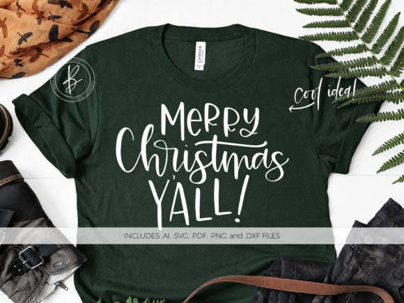 Download Free Merry Christmas Y All Fun Quote Graphic By Beckmccormick for Cricut Explore, Silhouette and other cutting machines.