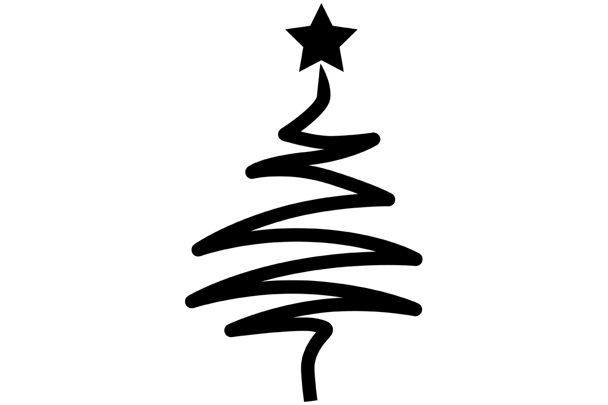 Download Free Modern Stylized Christmas Tree Graphic By Idrawsilhouettes for Cricut Explore, Silhouette and other cutting machines.