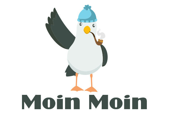 Moin Moin Seagull Germany Craft Cut File By Creative Fabrica Crafts