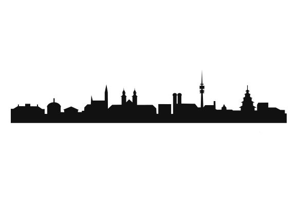 Download Free Munchner Skyline Creative Fabrica for Cricut Explore, Silhouette and other cutting machines.