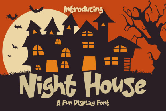 Print on Demand: Night House Display Font By letter battoyart