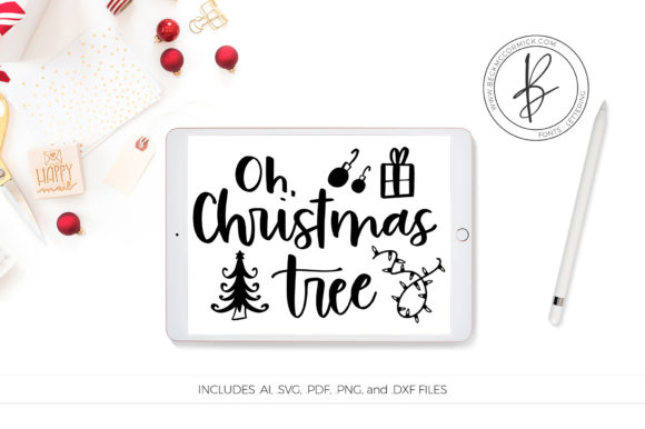 Download Free Oh Christmas Tree Graphic By Beckmccormick Creative Fabrica for Cricut Explore, Silhouette and other cutting machines.