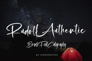 Rudolf Authentic Font By missinklab
