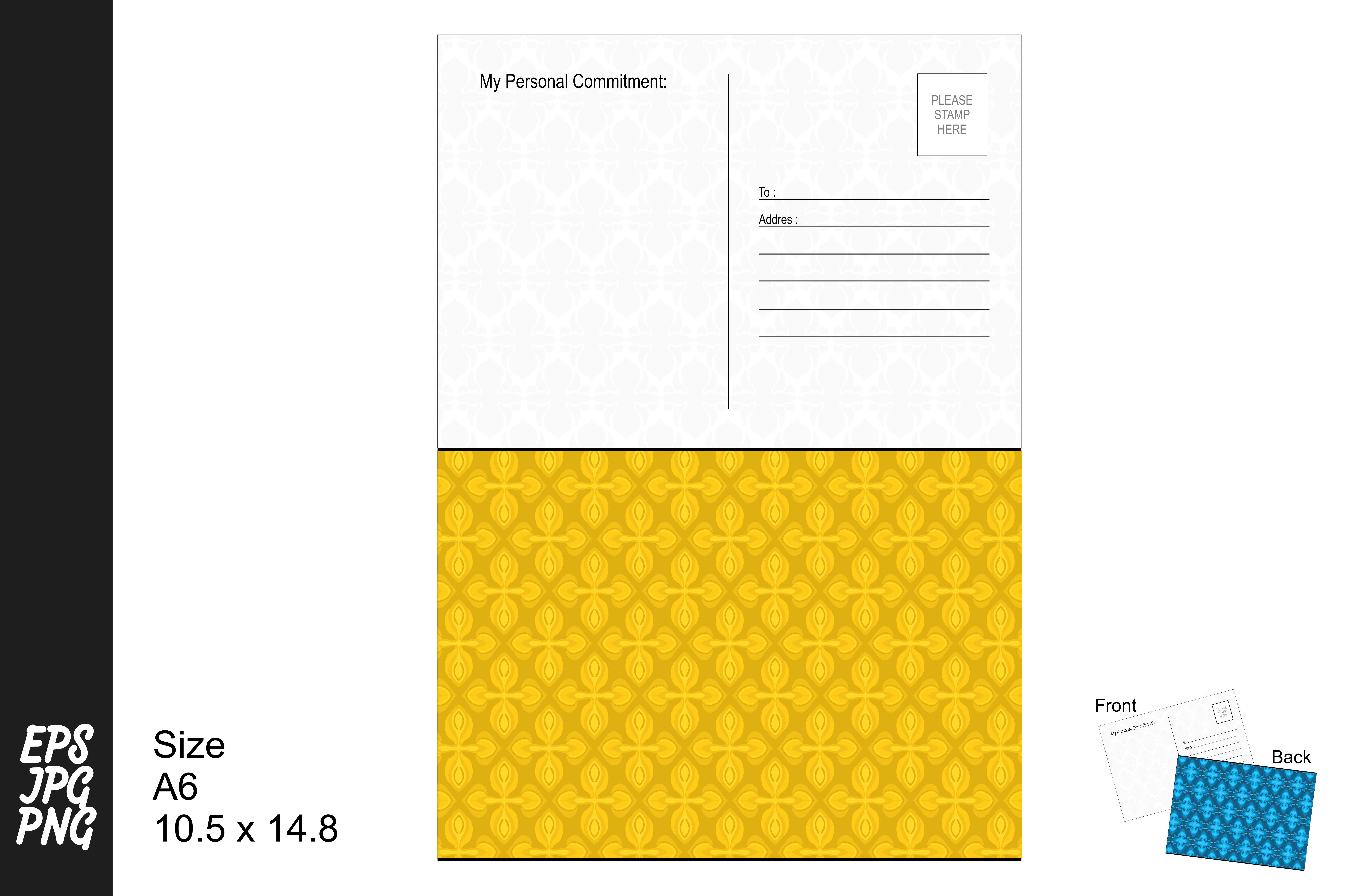 Download Free Simple Pattern Postcard Graphic By Arief Sapta Adjie Ii for Cricut Explore, Silhouette and other cutting machines.