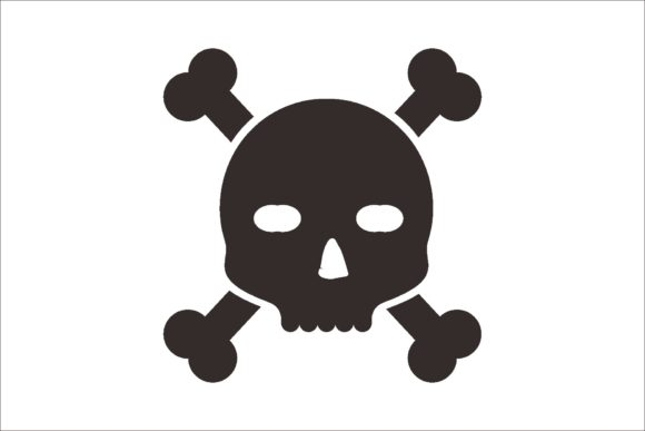 Print on Demand: Skull and Crossbones Icon Graphic Icons By LeisureProjects