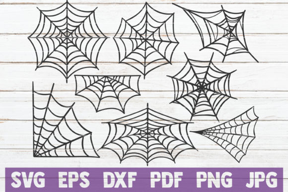 Spider Webs Graphic Crafts By MintyMarshmallows