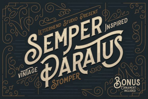 Print on Demand: Stomper Display Font By letterhend - Image 5