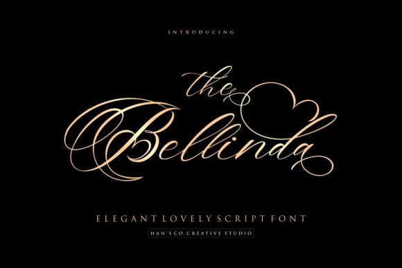 Print on Demand: The Bellinda Script & Handwritten Font By HansCo