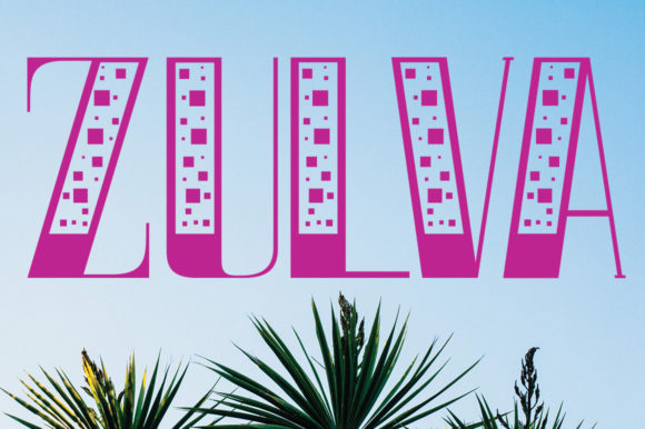 Print on Demand: Zulva Display Font By jehansyah251