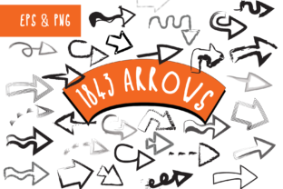 Print on Demand: 1843 Arrows and Pointers Graphic Icons By GraphicsBam Fonts 1