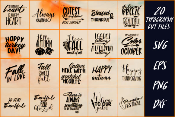 Download Free 20 Thanksgiving Sayings Part 2 Graphic By Craft N Cuts Creative Fabrica for Cricut Explore, Silhouette and other cutting machines.