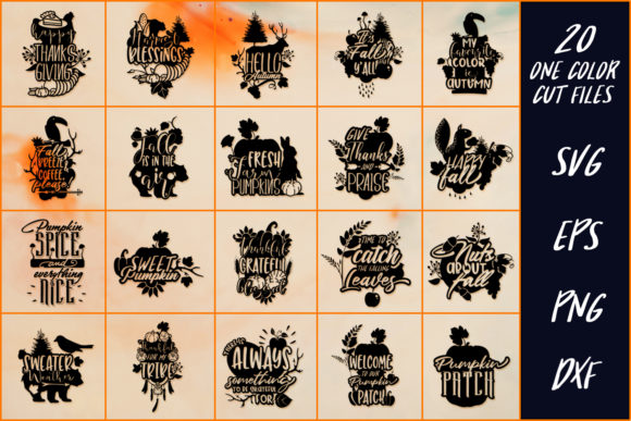 Download Free 20 Thanksgiving Sayings Part 3 Graphic By Craft N Cuts for Cricut Explore, Silhouette and other cutting machines.