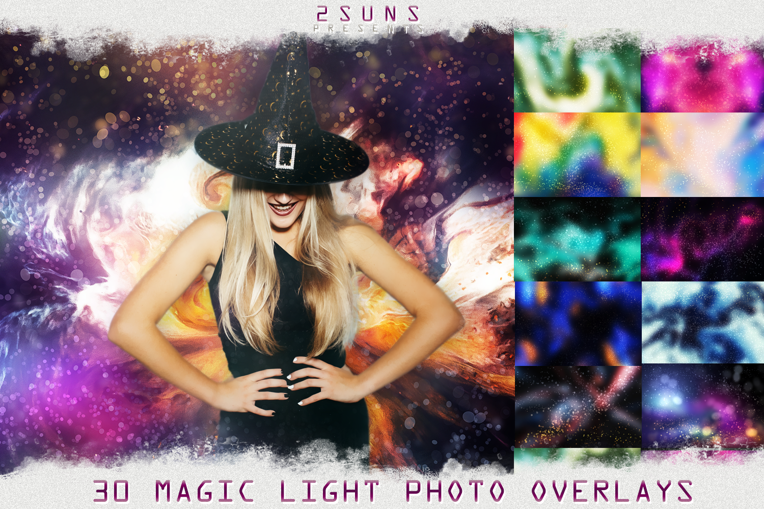 Download Free 30 Magic Photo Overlays Halloween Graphic By 2suns Creative for Cricut Explore, Silhouette and other cutting machines.