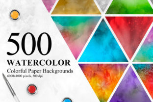 500 Watercolor Paper Backgrounds 500 Wa Graphic By NassyArt