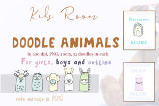 52 Doodle Animals Graphics Set Graphic By Primafox Design