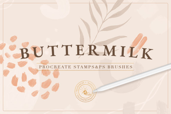 90 Procreate & PS Stamp Brushes Graphic Free Download