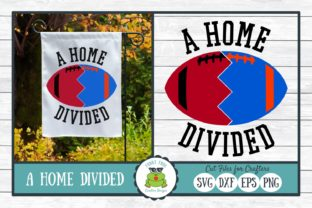A Home Divided  - Football SVG Cut File Graphic By funkyfrogcreativedesigns