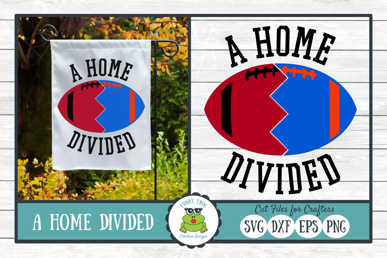 Download Free A Home Divided Football Team Svg Graphic By for Cricut Explore, Silhouette and other cutting machines.