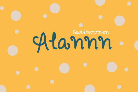 Print on Demand: Alannn Script & Handwritten Font By Widya Jung