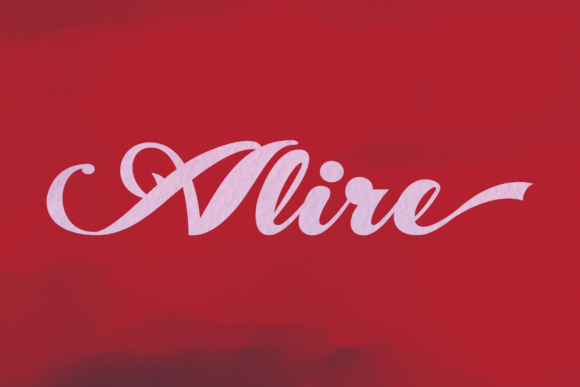 Print on Demand: Alire Script & Handwritten Font By ogit