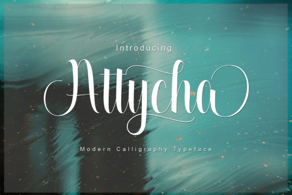 Print on Demand: Attycha Script & Handwritten Font By JoeeCreative