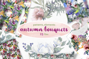 Autumn Flowers Bouquets Watercolor Png Graphic By MyStocks