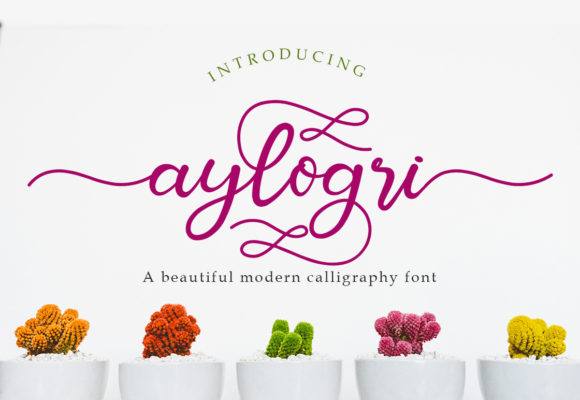 Print on Demand: Aylogri Script & Handwritten Font By Madatype Studio