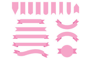 Print on Demand: Baby Pink Badge & Banner Clip Art Graphic Objects By Running With Foxes