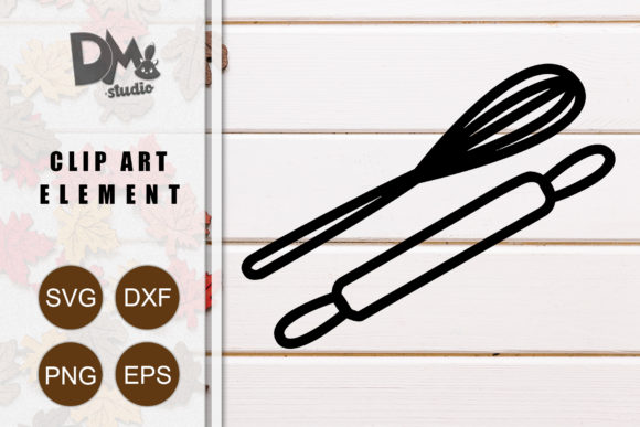 Print on Demand: Balloon Whisk & Rolling Pin Graphic Crafts By Sharon ( DMStd )