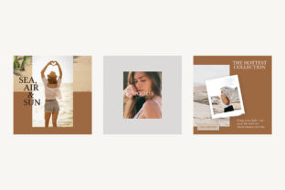 Beach Instagram Templates Graphic By qohhaarqhaz