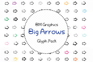Big Arrows Font By GraphicsBam Fonts