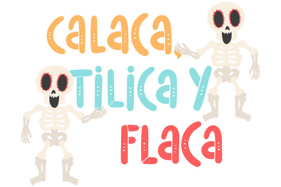 Download Free Calaca Tilica Y Flaca Svg Cut File By Creative Fabrica Crafts for Cricut Explore, Silhouette and other cutting machines.
