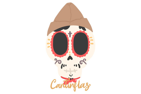Download Free Cantinflas Skull Svg Cut File By Creative Fabrica Crafts for Cricut Explore, Silhouette and other cutting machines.