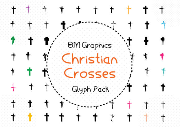 Print on Demand: BM Graphics - Christian Crosses Dingbats Font By GraphicsBam Fonts