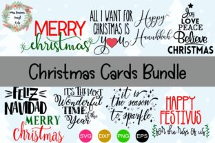 Christmas Card Bundle Graphic By MissSeasonsVinylCuts