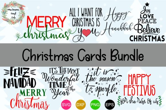 Print on Demand: Christmas Card Bundle Graphic Crafts By MissSeasonsVinylCuts