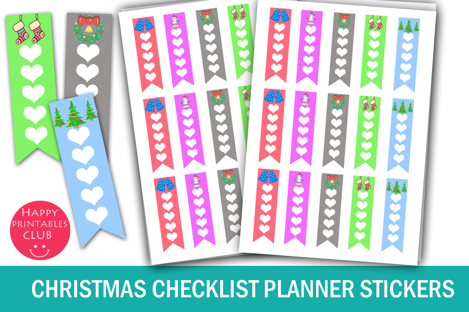 Download Free Christmas Checklist Planner Stickers Graphic By Happy Printables SVG Cut Files