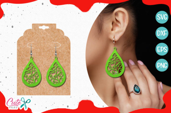 Christmas Earring Template Graphic Crafts By Cute files