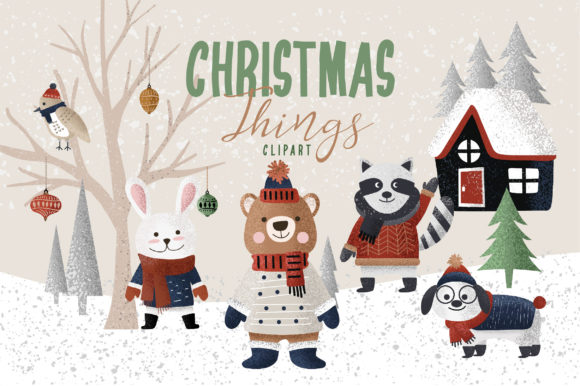 Print on Demand: Christmas Things Graphic Illustrations By Caoca Studios